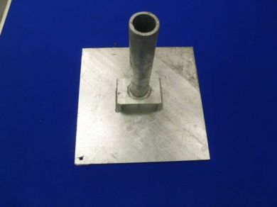 "VBP12-2 Galvanised Vented Base Plate For 2\"" OD Tube"