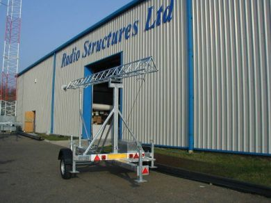 TM40 Mobile Trailer Mast Extendes to 12 Metres in Height