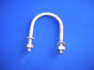 10mm Galvanised U-Bolts for 76mm OD Tubes