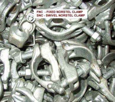 Galvanised Fixed  Norstal Clamps