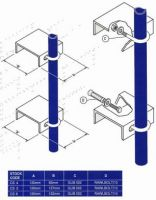 "Galvanised Wall  Mounting Channel Brackets c/w Rawl Bolts & U/Bolts 5\\\"" & 6\\\\\\\"""