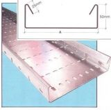 Heavy duty galvanised cable tray return flange