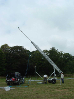 TM60 Mobile Trailer Mast Extends to 18 Metres In Height